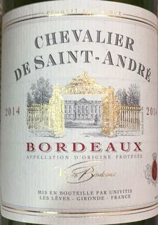 Chevalier de Saint André Bordeaux Rouge