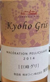 熊本ワイン Kyoho Gris 巨峰 グリ