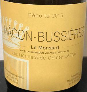 Les Héritiers du Comte Lafon Mâcon Bussieres Les Monsard