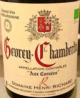 Dom. Henri Richard Gevrey Chambertin Aux Corvees(ドメーヌ・アンリ・リシャール ジュヴレ・シャンベルタン オー・コルヴェ)