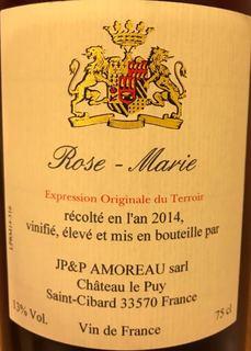 Ch. Le Puy Rose Marie