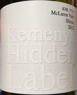 Kemenys Hidden Label KHL 7735 McLaren Vale Shiraz