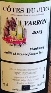 Buronfosse Côtes du Jura Varron