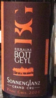 Dom. Bott Geyl Pinot Gris Grand Cru Sonnenglanz Selection Grains Nobles(ドメーヌ・ボット・ゲイル ピノ・グリ グラン・クリュ ゾンネングランツ セレクション・グラン・ノーブル)