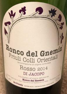 Ronco del Gnemiz Rosso di Jacopo