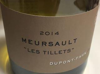 Dom. Dupont Fahn Meursault Les Tillets