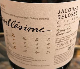 Jacques Selosse Millésime Extra Brut Grand Cru