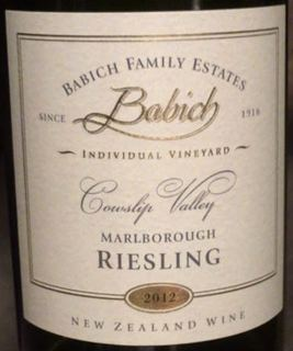 Babich Family Estates Cowslip Valley Riesling