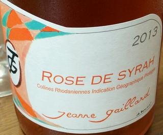 Jeanne Gaillard Rose de Syrah