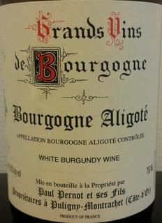 Paul Pernot et Ses Fils Bourgogne Aligoté