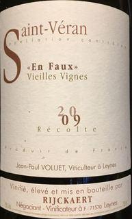 Jean Rijckaert Saint Véran En Faux Vieilles Vignes
