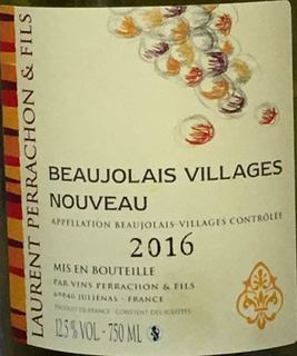 Laurent Perrachon Beaujolais Villages Nouveau(ローラン・ペラション ボージョレ・ヴィラージュ ヌーヴォー)