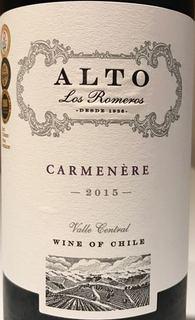 Alto Los Romeros Carmenère