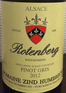Dom. Zind Humbrecht Rotenberg Pinot Gris