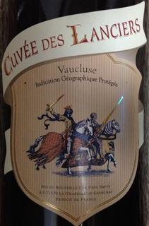 Cuvée des Lanciers Vaucluse