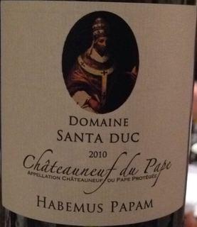 Dom. Santa Duc Châteauneuf du Pape Habemus Papam