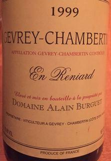 Alain Burguet Gevrey Chambertin En Reniard