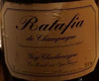 Guy Charlemagne Ratafia de Champagne