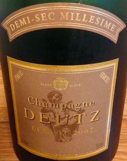Champagne Deutz Demi Sec Millésime