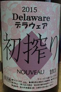 塩山洋酒醸造 デラウェア 初搾り Nouveau 甘口