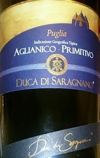 Duca di Saragnano Puglia Aglianico Primitivo(ドゥーカ・ディ・サラニャーノ プーリア アリアーニコ プリミティーヴォ)