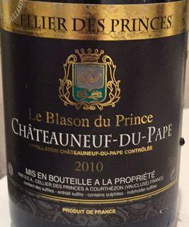 Cellier des Princes Châteauneuf du Pape Blason du Prince Rouge