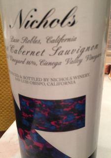Nichols Paso Robles Cabernet Sauvignon Vinas del Sol Vineyard