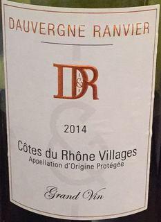 Dauvergne Ranvier Côtes du Rhône Villages Grand Vin