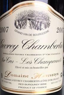Dom. Heresztyn Gevrey Chambertin 1er Cru Les Champonnets