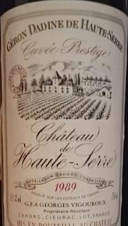 Ch. de Haute Serre Cuvée Prestige