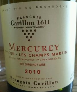 Francois Carillon Mercurey 1er Cru Les Champs Martin