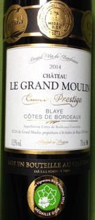 Cuvée Prestige du Ch. Le Grand Moulin Organic
