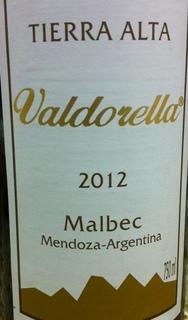 Tierra Alta Valdorella Malbec