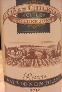 Trader Joe's Viñas Chilenas Reserva Sauvignon Blanc