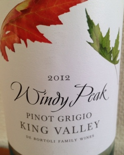 Windy Peak King Valley Pinot Grigio
