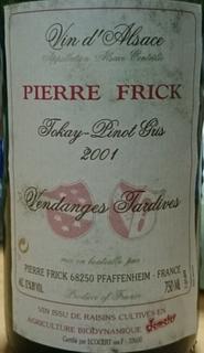 Pierre Frick Tokay Pinot Gris Vendange Tardive
