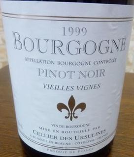 Cellier des Ursulines Bourgogne Pinot Noir Vieilles Vignes
