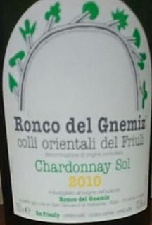 Ronco del Gnemiz Chardonnay Sol