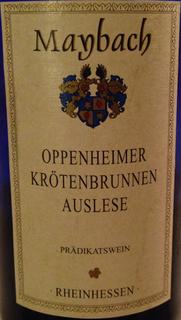 Maybach Oppenheimer Krötenbrunnen Auslese(マイバッハ オッペンハイマー・クレーテンブルンネン アウスレーゼ)