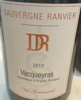 Dauvergne Ranvier Vacqueyras Vin Gourmand Rouge
