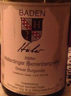 Bernhard Huber Malterdinger Bienenberg Grauer Burgunder R