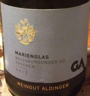 Aldinger Marienglas Weissburgunder GG trocken