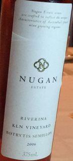 Nugan Estate KLN Vineyard Botrytis Semillon