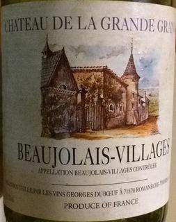 Ch. de La Grande Grange Beaujolais Villages Nouveau
