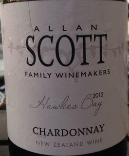 Allan Scott Hawkes Bay Chardonnay