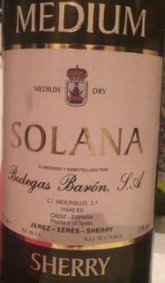 Bodegas Barón Solana Medium Sherry