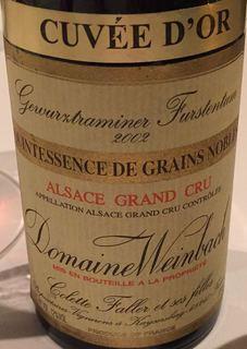 Dom. Weinbach Gewürztraminer Furstentum Grand Cru Quintessence de Grains Noble Cuvée d'Or