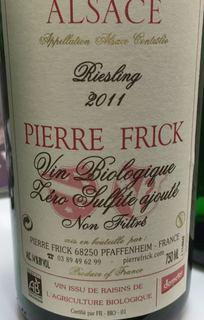 Pierre Frick Riesling Vin Biologique Zéro Sulfite ajouté Non Filtre