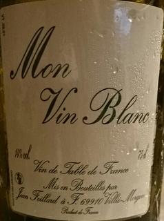 Jean Foillard Mon Vin Blanc