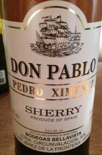 Don Pablo Pedro Ximenez Sherry(ドン・パブロ ペドロ・ヒメネス シェリー)